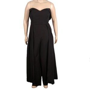 Eloquii Sweetheart Neckline Jumpsuit with Skirt